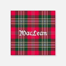 """Tartan - MacLean Square Sticker 3"""" x 3"""""""