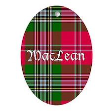 Tartan - MacLean Ornament (Oval)