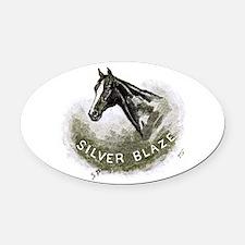 Silver Blaze Oval Car Magnet