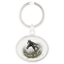 Silver Blaze Oval Keychain Keychains