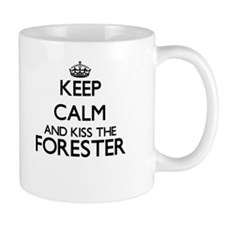 Keep calm and kiss the Forester Mugs