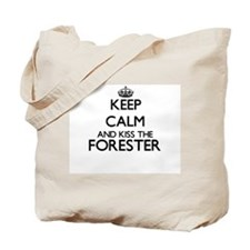Keep calm and kiss the Forester Tote Bag