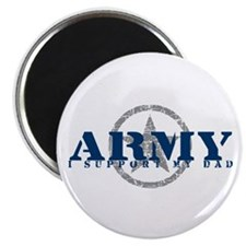 Army - I Support My Dad Magnet