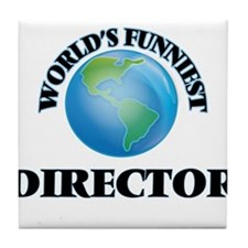 World's Funniest Director Tile Coaster