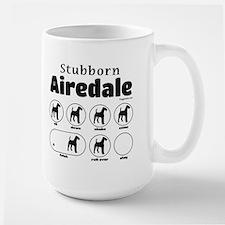 Stubborn Airedale v2 Mug