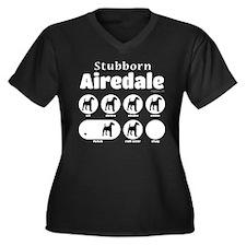 Stubborn Air Women's Plus Size V-Neck Dark T-Shirt