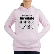 Stubborn Airedale v2 Women's Hooded Sweatshirt