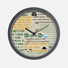 Walter Quotes - Breaking Bad Wall Clock