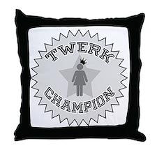 Twerk Champion Throw Pillow