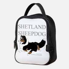 Tri Sheltie Neoprene Lunch Bag