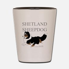 Tri Sheltie Shot Glass