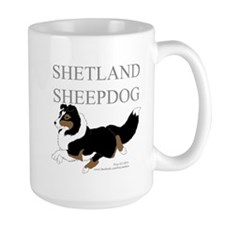 Tri Sheltie Mugs