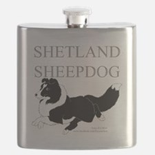 Bi-Black Sheltie Flask