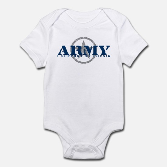 Army - I Support My Cousin Infant Bodysuit