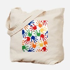 Kids Handprint Tote Bag