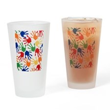 Kids Handprint Drinking Glass