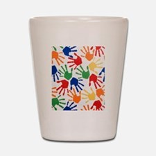 Kids Handprint Shot Glass