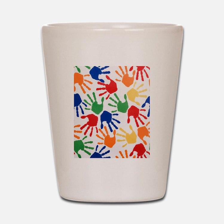 Kids Handprint Shot Glass