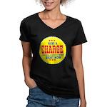 Charge Beer-1969 Women's V-Neck Dark T-Shirt