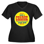 Charge Beer-1969 Women's Plus Size V-Neck Dark T-S