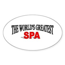 """The World's Greatest Spa"" Oval Decal"