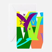 Initial Design (V) Greeting Cards