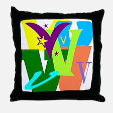 Initial Design (V) Throw Pillow