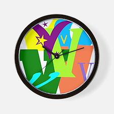 Initial Design (V) Wall Clock