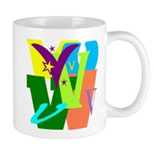 Initial Design (V) Mugs