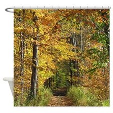 Autumn Trail Scenery Shower Curtain