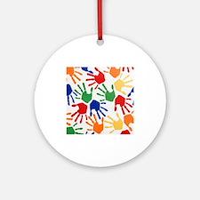 Kids Handprint Ornament (Round)