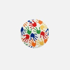 Kids Handprint Mini Button