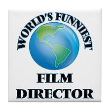 World's Funniest Film Director Tile Coaster