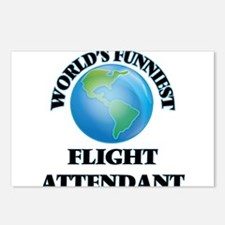 World's Funniest Flight A Postcards (Package of 8)