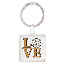 LOVE VB Square Keychain