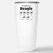 Stubborn Beagle v2 Stainless Steel Travel Mug