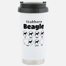 Stubborn Beagle v2 Travel Mug