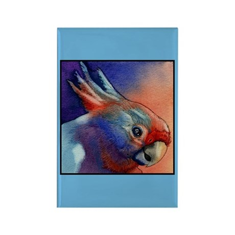 Cockatoo Parrot Rectangle Magnet