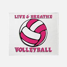LIVE, BREATHE, VB Throw Blanket