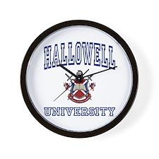 HALLOWELL University Wall Clock