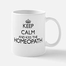 Keep calm and kiss the Homeopath Mugs
