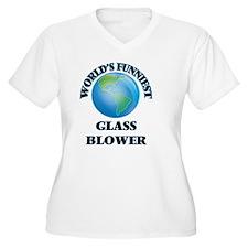 World's Funniest Glass Blower Plus Size T-Shirt