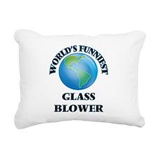 World's Funniest Glass B Rectangular Canvas Pillow