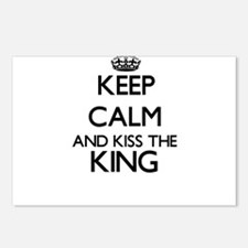 Keep calm and kiss the Ki Postcards (Package of 8)