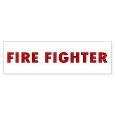Firefighter Bumper Bumper Sticker