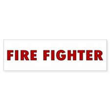 Firefighter Bumper Car Sticker