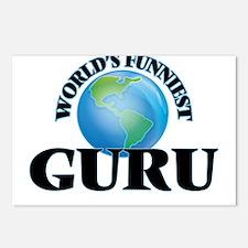 World's Funniest Guru Postcards (Package of 8)