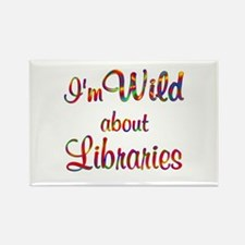Wild About Libraries Rectangle Magnet