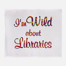Wild About Libraries Throw Blanket