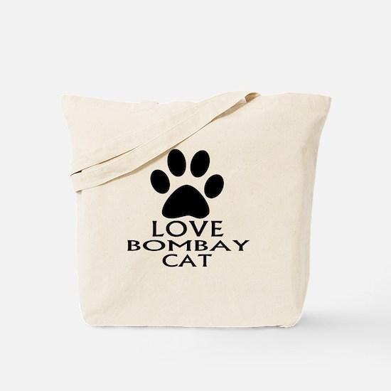 Love Bombay Cat Designs Tote Bag